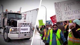Anti-Trudeau, pro-pipelne convoy straddles two provinces | Sheila Gunn Reid