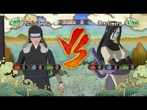 Naruto Shippuden: Ultimate Ninja Storm 3, The Third Hokage VS Orochimaru!
