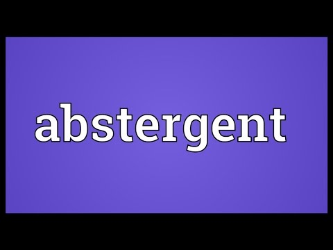 Header of abstergent
