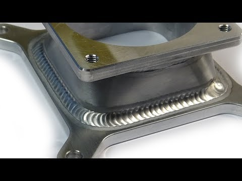 TIG Welding Aluminum Fabrication - Sheet Metal Forming - Round Hole to Rectangle  Hole Transition