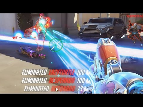 Overwatch OP Moments #8 - Indian Woman Slaughters 6 Hollywood Tourists