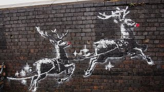 New Banksy Holiday Mural Vandalized