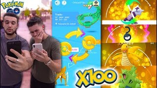 HOW MANY LUCKY POKÉMON CAN YOU GET FROM 100 TRADES IN POKÉMON GO? The 100 Trade Challenge!