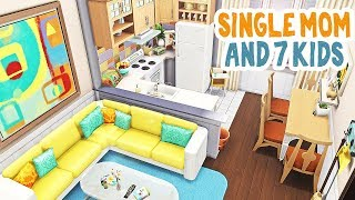Single Mom And 7 Kids! 🧸 || The Sims 4 Apartment Renovation: Speed Build