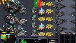 스타크래프트 2:2 빨무 팀플 개 엽기 대박전략ㅋㅋㅋㅋㅋㅋㅋ (starcraft brood war 2vs2 fastest map funny game play)