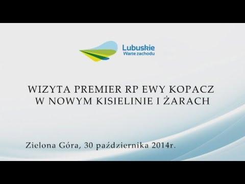 Wizyta Premier RP Ewy Kopacz w Nowym Kisielinie i Żarach
