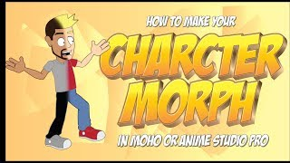 How to morph your character mid animation in Anime Studio Pro or MOHO 12