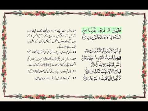 Surah Rahman Full With Written Urdu Translation By Qari Ziyad Patel Beautiful Sweet Voice video