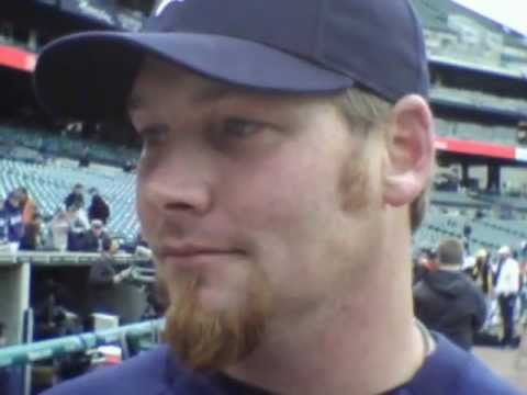 Phil Coke Detroit Tigers Reliever on the upcoming 2012 season and Opening Day 4...05...2012.AVI