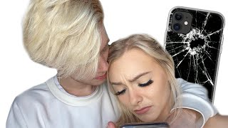 BREAKING MY GIRLFRIEND'S NEW IPHONE 11 PRANK!