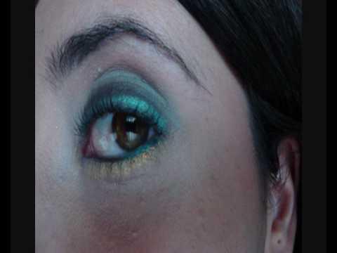 Tutorial make up nero e azzurro