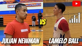 Julian Newman vs LaMelo Ball ALL STAR GAME Highlights