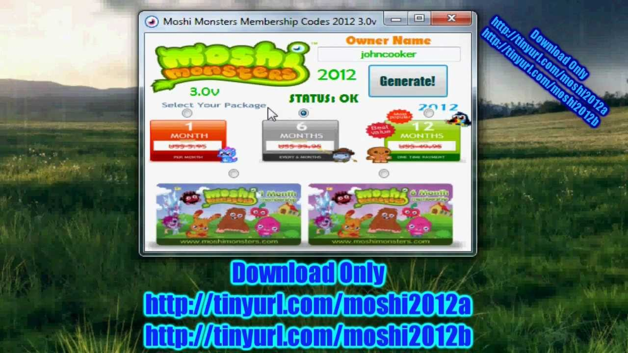 Moshi Monsters Membership Hack Tool