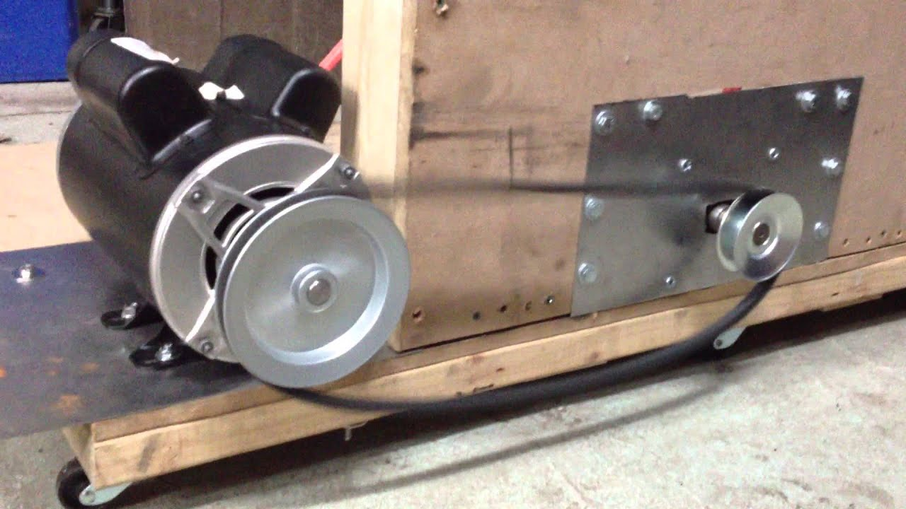 Ac Dc Permanent Magnet Motor Generator Pulley Rotation