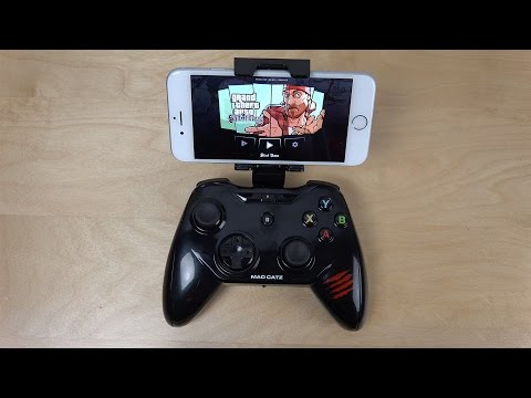 GTA San Andreas iPhone 6 Mad Catz C.T.R.L.i Gamepad - Gameplay (4K)