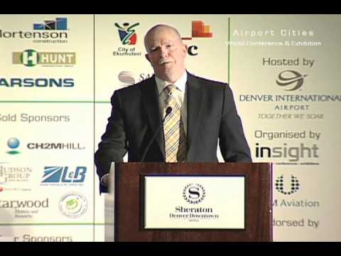 John Parrott from Anchorage International Airport talks at Airport Cities 2012
