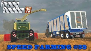 Farming Simulator 15 - Speed Farming #59 - Krone BigX 580 + John Deere 7r [Multiplayer]
