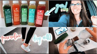 QUARANTINE DAY #40 || NEW! JUICE CLEANSE + my fav cocktail recipe!