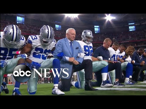 Dallas Cowboys, Jerry Jones take knee before national anthem