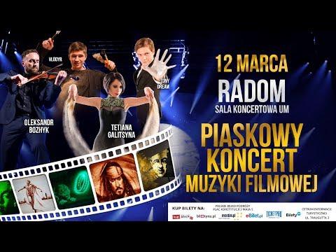Piaskowy Koncert Muzyki Filmowej W Radomiu: Tetiana Galitsyna, Oleksandr Bozhyk,  VLODYR, Tony Dream