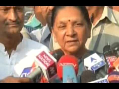 Gujarat CM speaks to media after casting her vote in AMC election