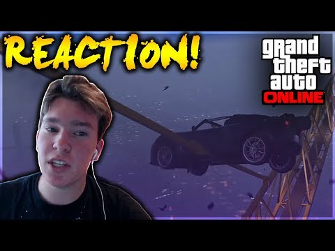 GTA 5 - sQUAD Crew Stunt Montage #1 REACTION!! (GTA 5 Live Reaction)