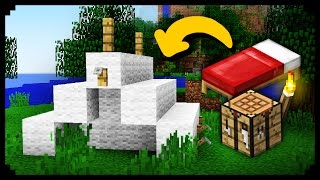 ✔ Minecraft: How to make a Working Tent