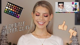 TRYING THE JAMES CHARLES X MORPHE PALETTE (Hooded Eyes Friendly) | BrittanyNichole