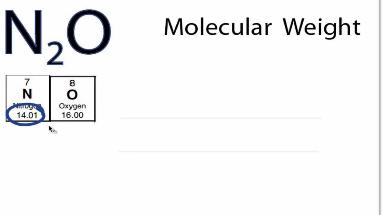 N2o Lewis Structure N2O Molecular Weight How to