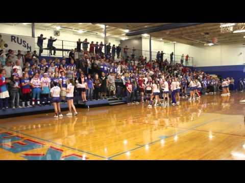 Hoopeston Area High School students celebrate Homecoming Pep Rally