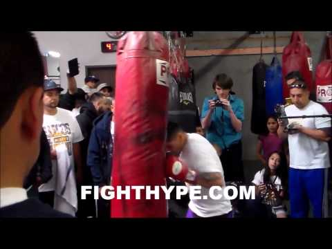 MARCOS MAIDANA TRAINING FOR FLOYD MAYWEATHER