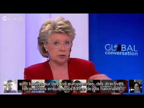 Viviane Reding - 75% of UK law made by the European Union