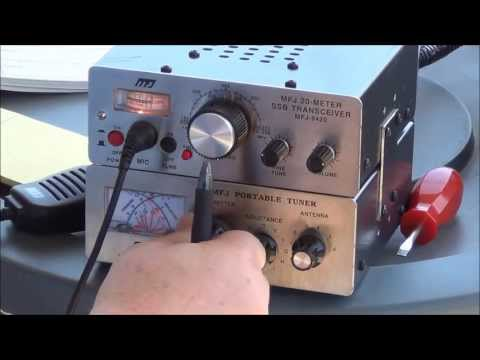 Contact!  Buddiepole Inverted V using a MFJ-9420 QRP SSB and MFJ-971 Tuner