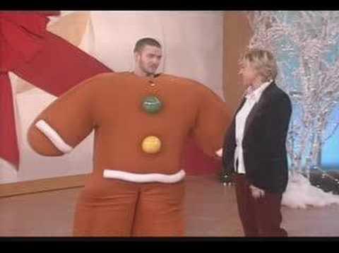 Justin Timberlake – Ellen ( gingerbread man)
