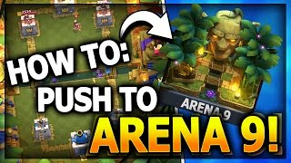 HOW TO GET TO JUNGLE ARENA 9! NO LEGENDARY CARDS! Top 3 F2P Decks! Clash Royale Best Arena 8 Deck?
