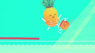 Summer Fun Fruit Cocktail Character Animation