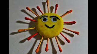 Play-Doh Sun - Kids fun Project - Kids Play doh - Crafts for kids