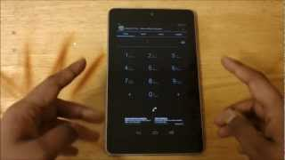 Google Nexus 7 - How To Make Phone Calls