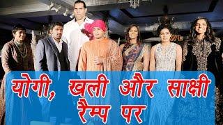 Pro Wrestling League Season 2: Sakshi Malik, Yogi and Khali walk on ramp | वनइंडिया हिन्दी