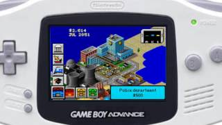 SimCity 2000 Game Boy Advance Game play