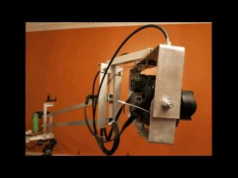 DIY bicycle cable actuated Pan/Tilt video head Test