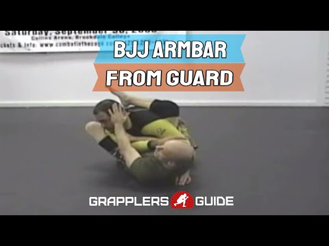 The Armbar from Guard BJJ Technique Image 1