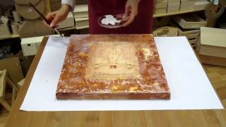 Decoupage on canvas. How to make canvas art. Decoupage tutorial DIY. Craft