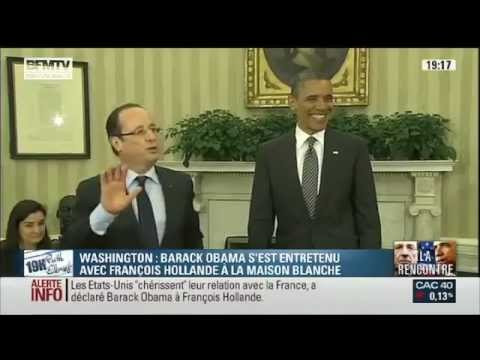 Ridicule François Hollande with Merkel and Obama