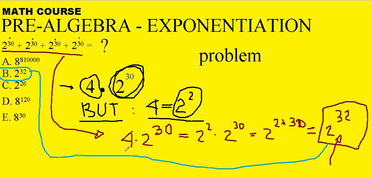 Pre algebra math problems