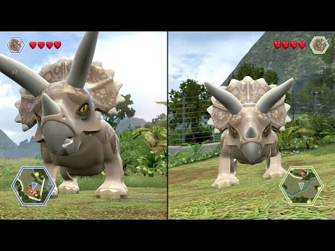 LEGO Jurassic World - Triceratops vs Triceratops - CoOp Fight | Free Roam Gameplay [HD]