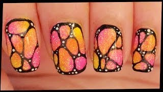 Abstract Butterfly nail art