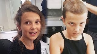 "Watch ""Stranger Things"" Star Millie Bobby Brown Shave Her Head to Become Eleven"
