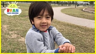 Hide and Seek at Playground for Kids with Eggs Surprise Toys