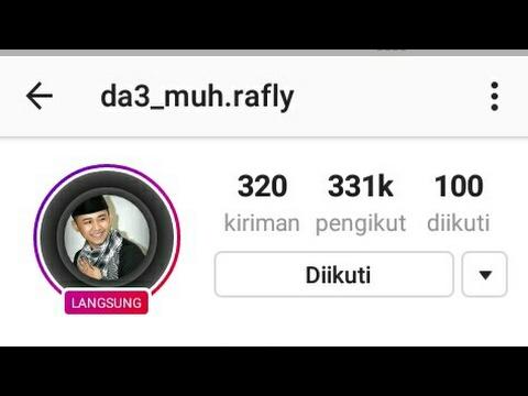 Live streming rafly gowa instagram tadi 31 mei